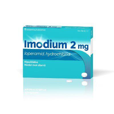 IMODIUM 2 mg tabl, kalvopääll 8 fol