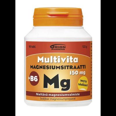 MULTIVITA MAGNESIUMSITRAATTI + B6 90 TABL
