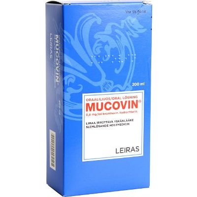 MUCOVIN 0,8 mg/ml oraaliliuos 200 ml