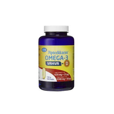 Lysi Omega-3 Apteekkarin Vahva + D X100 kaps