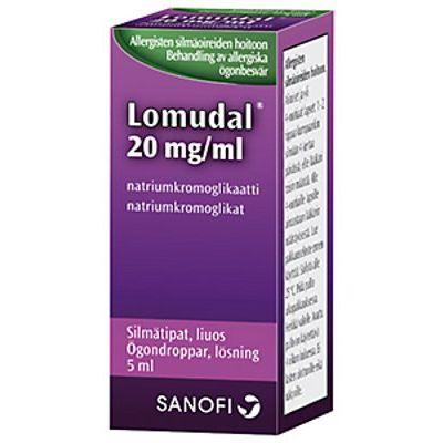 LOMUDAL 20 mg/ml silmätipat, liuos 5 ml