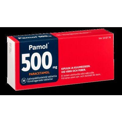 PAMOL  500 mg tabl, kalvopääll 30 fol