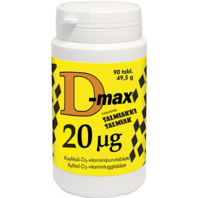 D-MAX 20 MIKROG SALMIAKKI 90 tabl