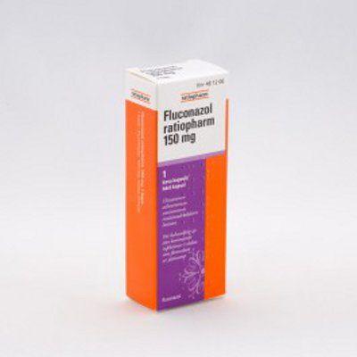 FLUCONAZOL RATIOPHARM 150 mg kaps, kova 1 fol