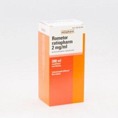 ROMETOR RATIOPHARM 2 mg/ml oraaliliuos 200 ml