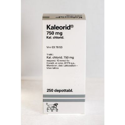 KALEORID 750 mg depottabl 250 kpl