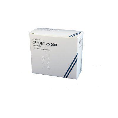 CREON 25 000 enterokaps, kova (2x50)2x50 kpl