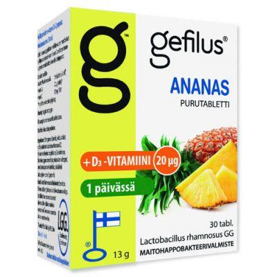 Gefilus + D Ananas purutabl 30 kpl