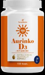 Aurinko D 100 µg Oliiviöljy 150 kaps
