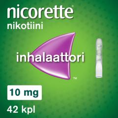 NICORETTE INHALAATTORI 10 mg inhal höyry, kyllästetty patruuna 42 fol
