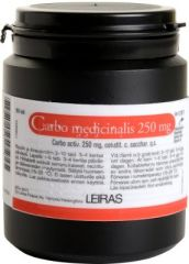 CARBO MEDICINALIS 250 mg tabl 150 kpl
